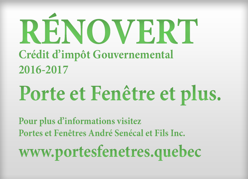RÉNOVERT QUEBEC RENOVATION TAX CREDIT 2016
